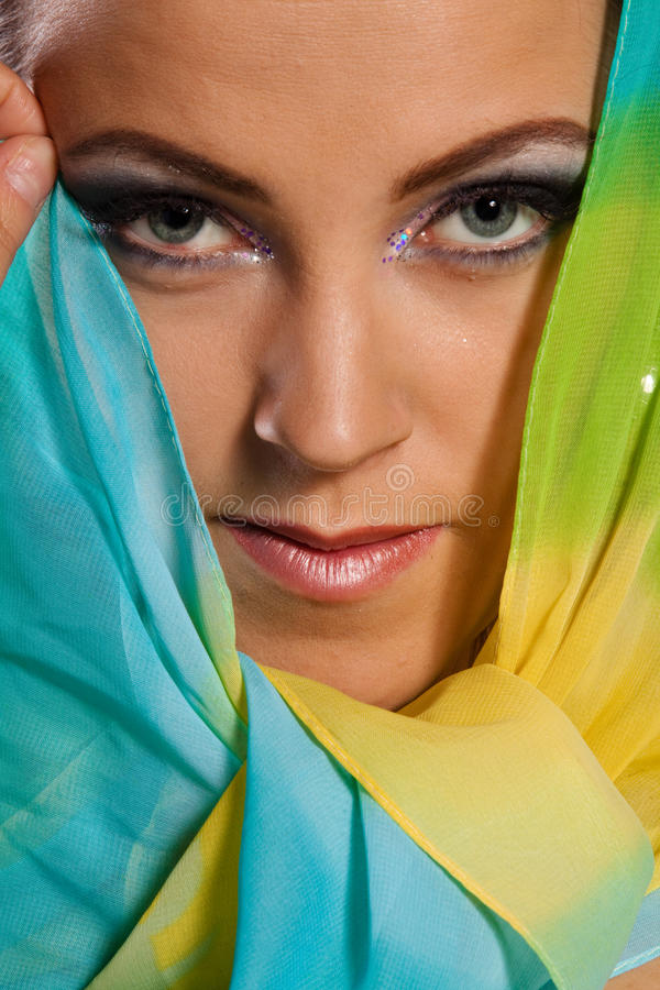 Download Arabian beautiful woman. stock photo. Image of arab, headscarf - 13603744