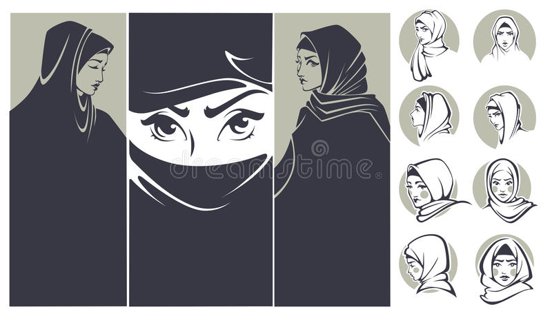 Arabian beauty vector illustration