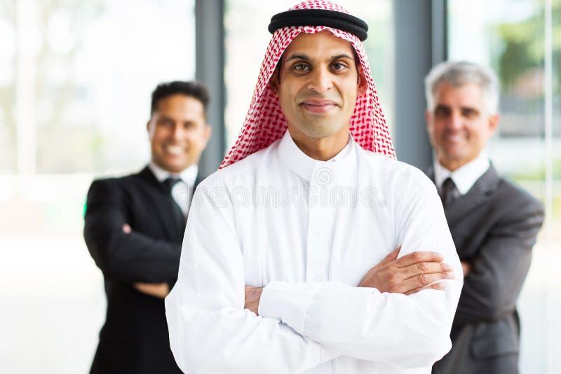 Arabian businessman team stock images