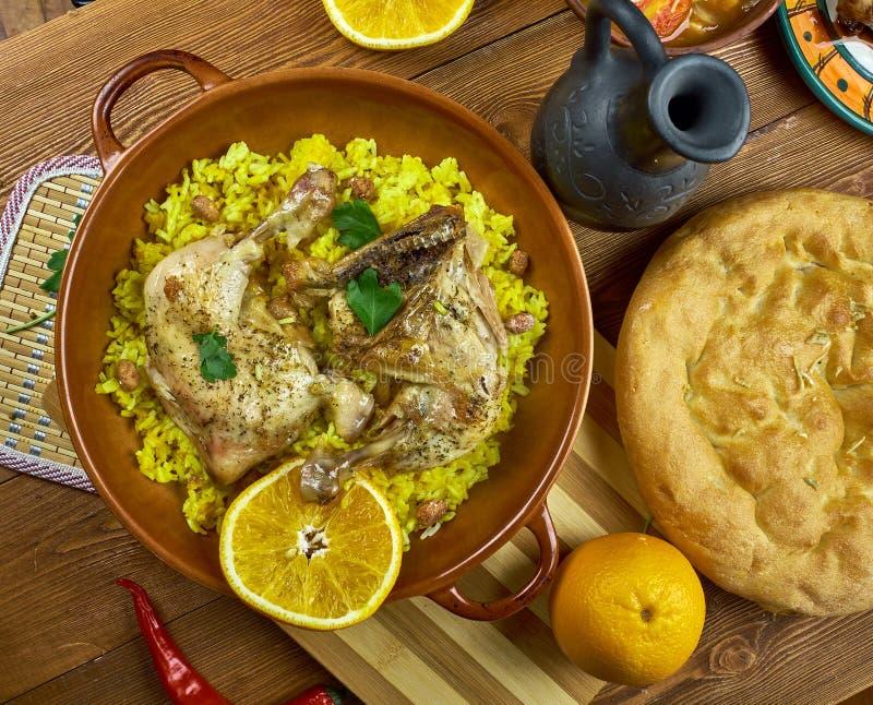 Arabian Djaj Fouq El-Eish stock photo. Image of chicken - 106728676
