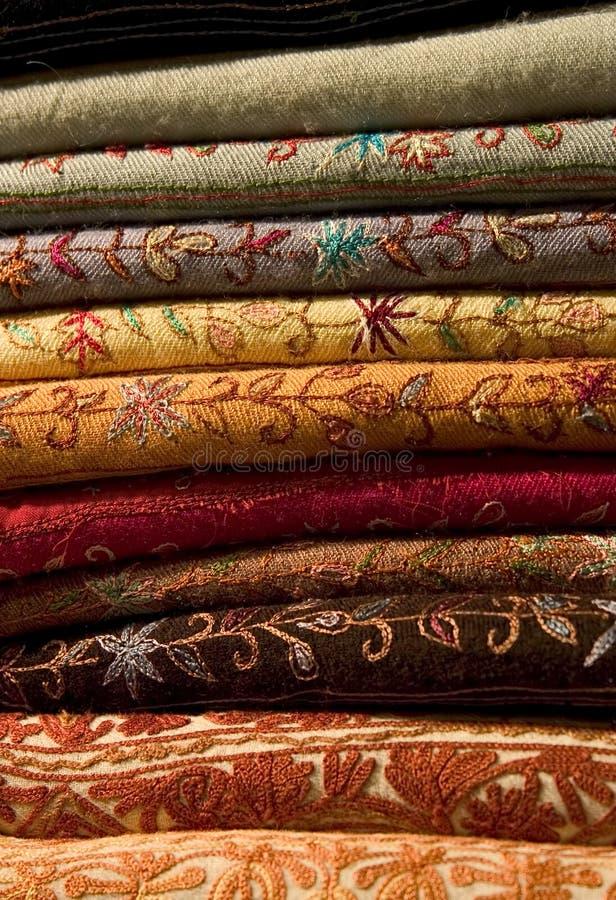 Arabian Fabrics royalty free stock photos