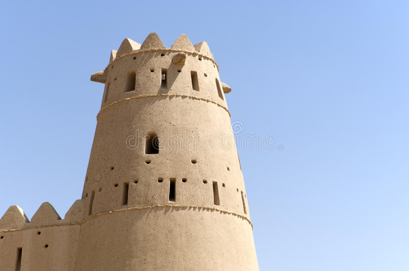 Download Arabian fort in Al Ain stock image. Image of historical - 34329291