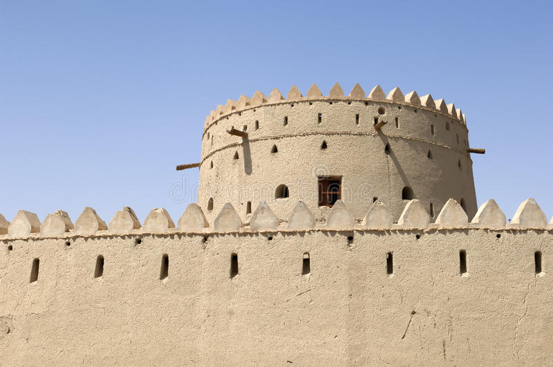 Download Arabian fort in Al Ain stock image. Image of tower, wall - 34329729
