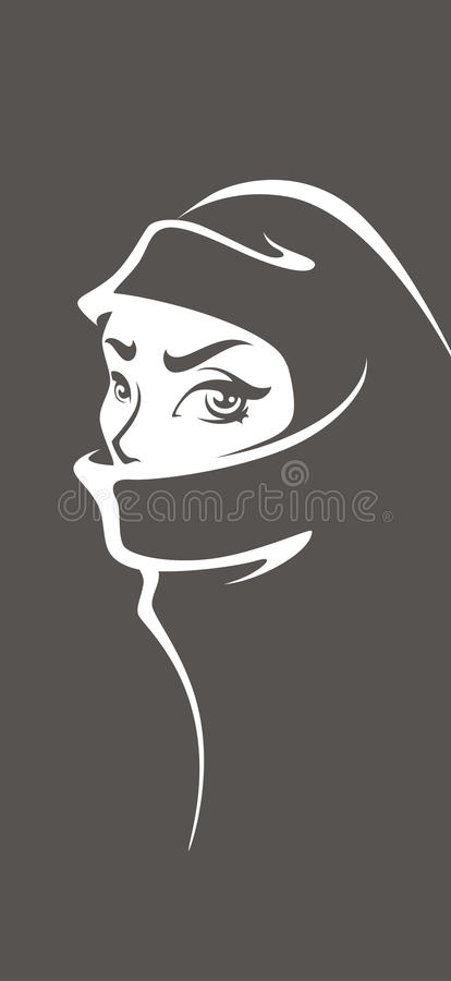 Arabian girl royalty free illustration