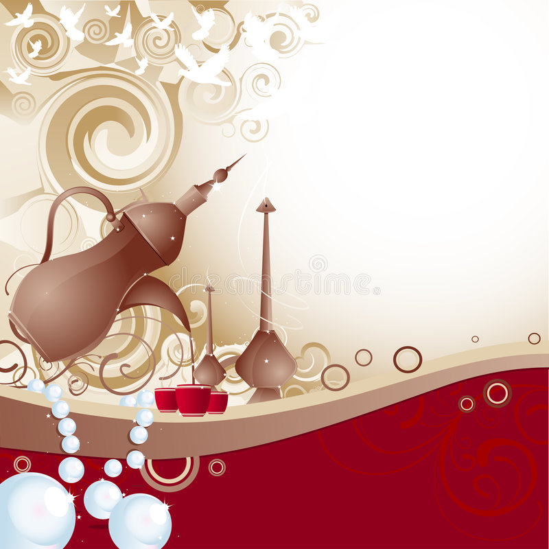 Arabian Hospitality royalty free stock image