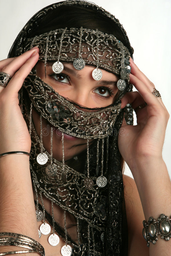 Arabian/indian woman stock image