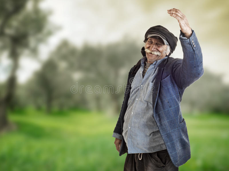 Arabian lebanese farmer proud of his land