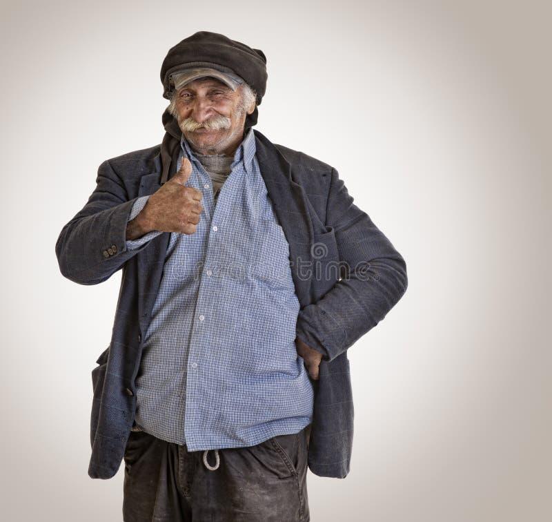 Arabian lebanese man / farmer with thumbs up