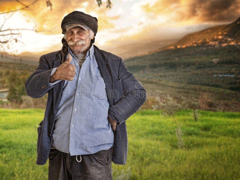 Download Arabian Lebanese Man / Farmer With Thumbs Up Stock Photos - Image: 23589693