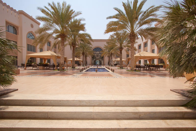 Download Arabian Luxury stock image. Image of palm, trees, courtyard - 22017253