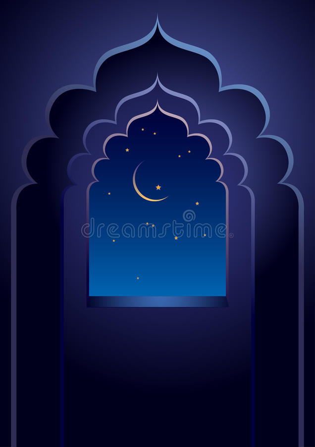 Arabian night vector illustration
