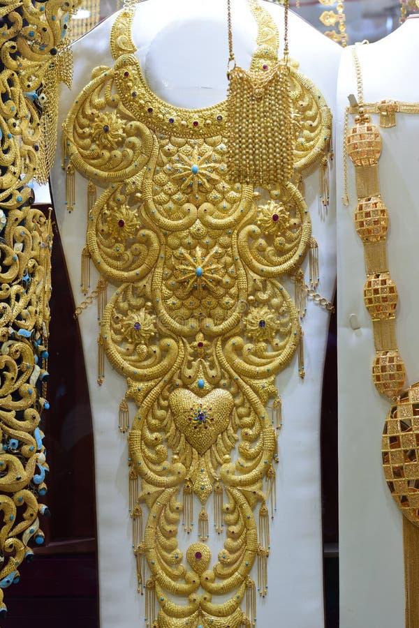 Arabian Pakistani Indian Traditional Gold Jewelry Editorial Image
