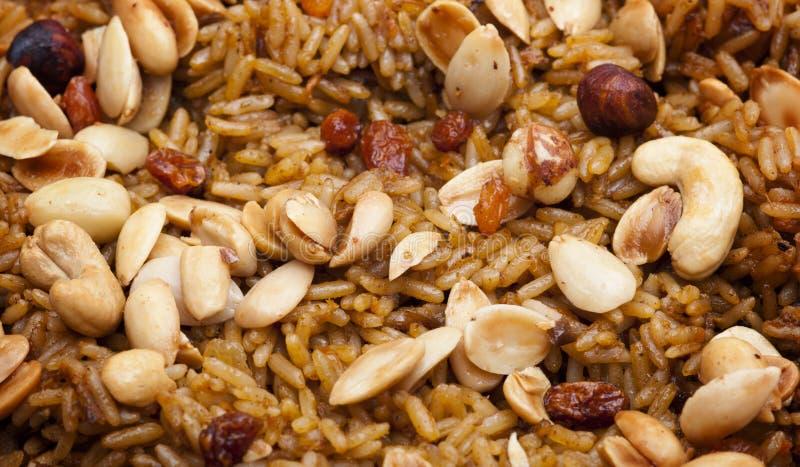 Arabian Rice Meal (Kabsa) Closeup Stock Photography