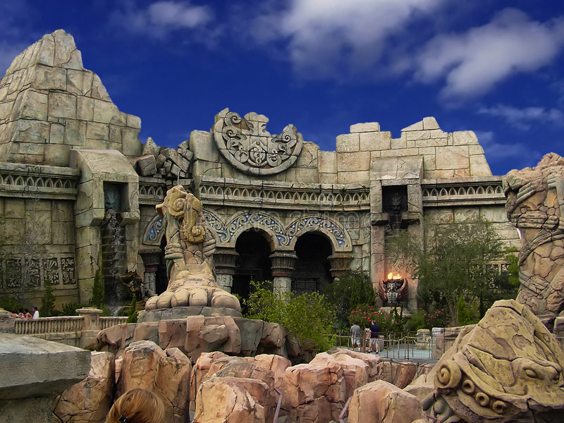 Arabian Ruins royalty free stock photos