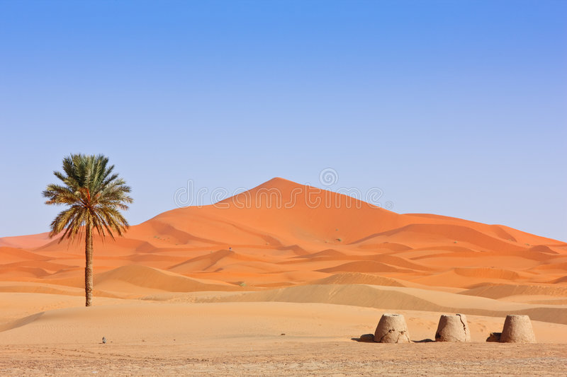 Download Arabian Sand Dunes And Fountain Stock Image - Image: 8516225