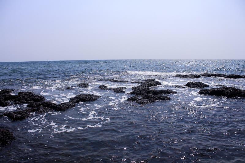 Arabian sea from Goa beach royalty free stock photo