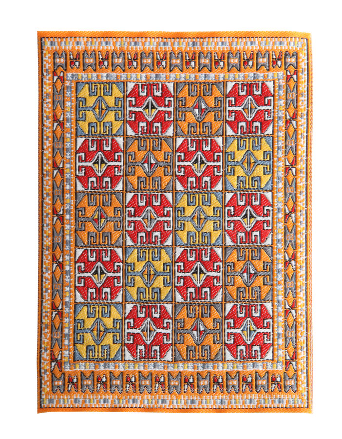 Arabian silk carpet stock image