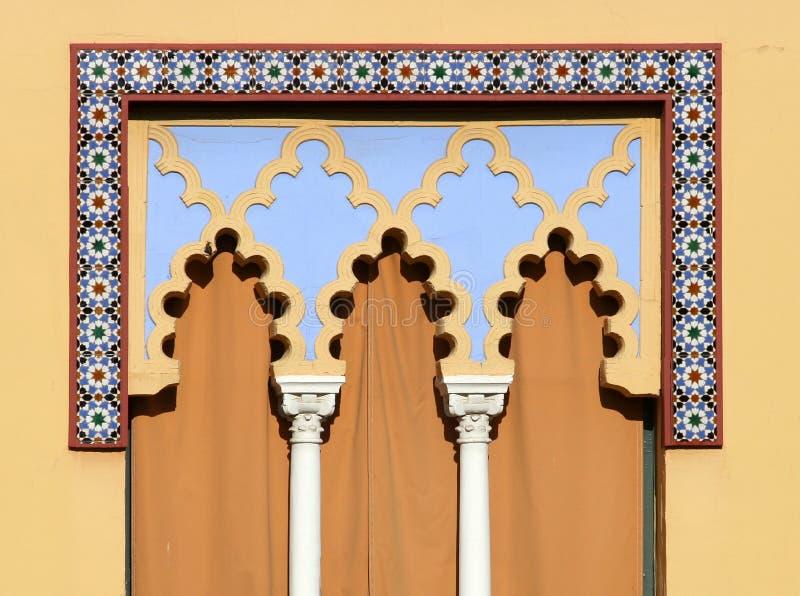 Arabian window in Cordoba - Spain royalty free stock photography