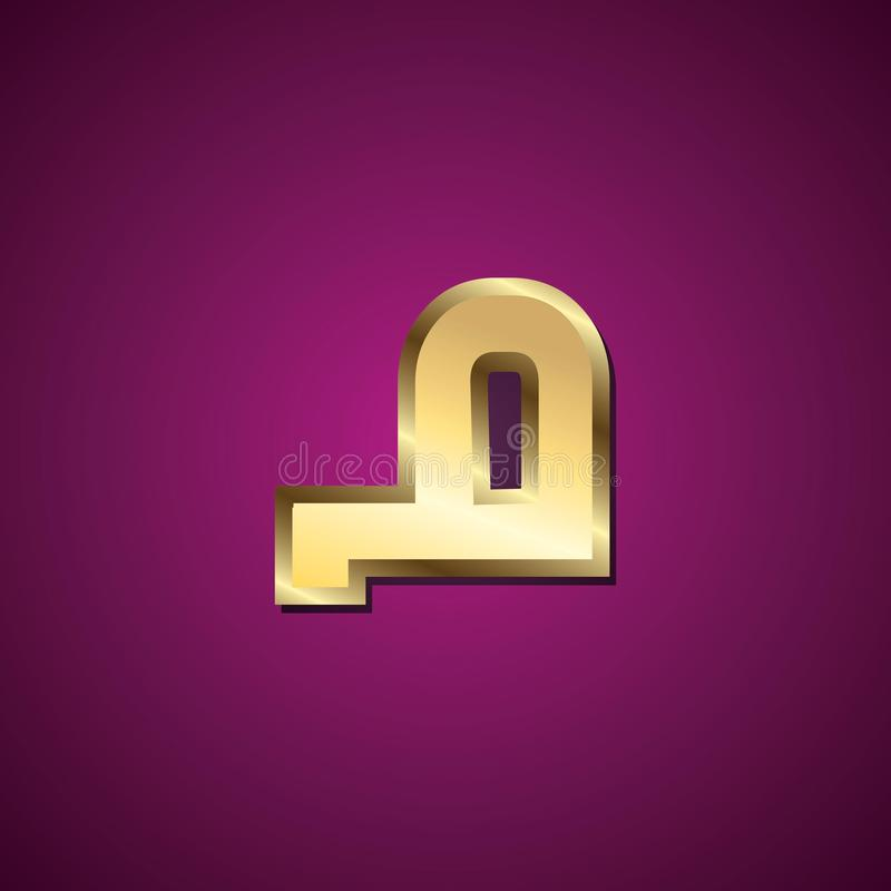 Arabic Alphabet, Red Urdu Typography Design Fonts Stock