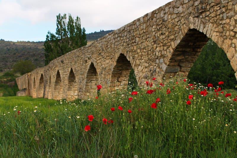 Arabic aqueduct stock photo