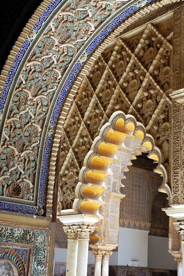 Arabic arch royalty free stock photo