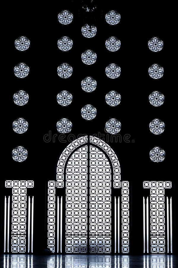 Arabic architecture Mosque Hassan 2 royalty free stock image
