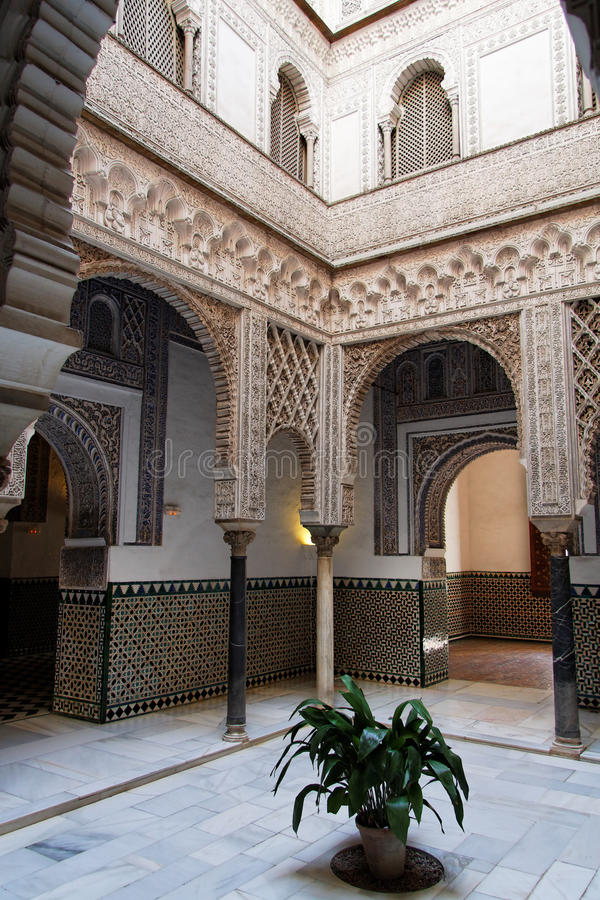 Arabic Architecture in Seville royalty free stock photo