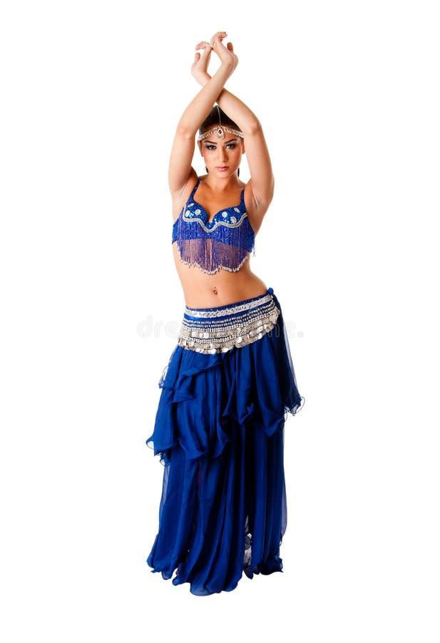 Arabic belly dancer stock image