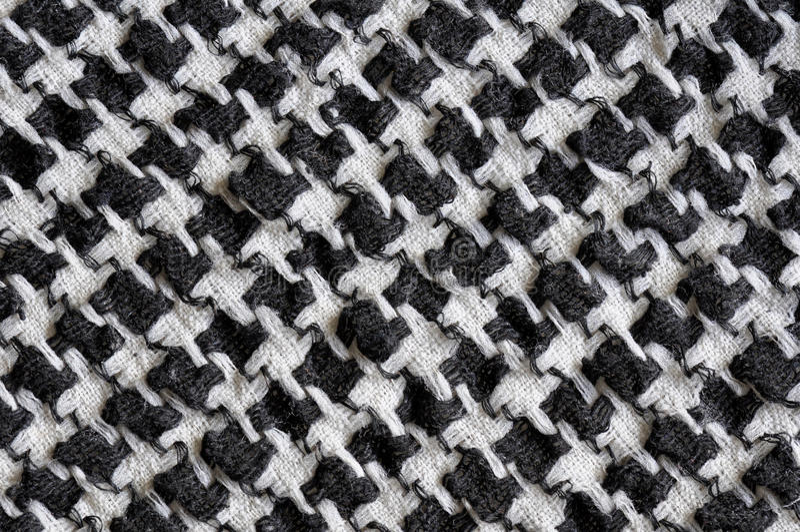Arabic black and white cloth fabric pattern. Traditional black and white checked fabric pattern on an Arabic cloth royalty free stock photos