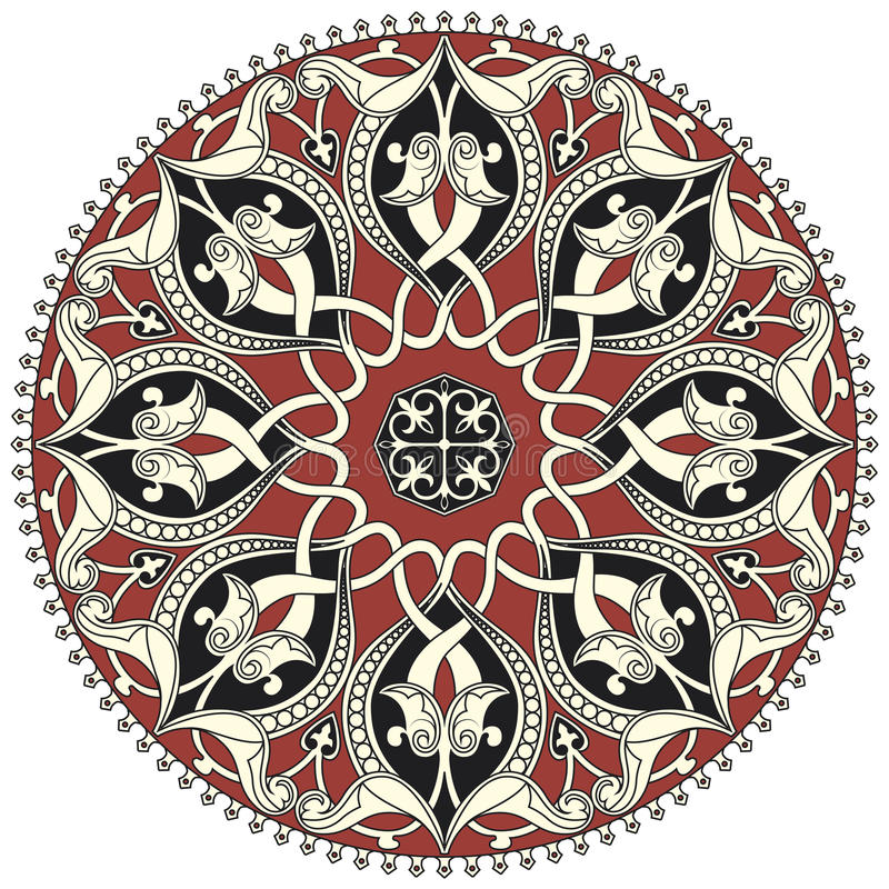 Arabic circular pattern vector illustration