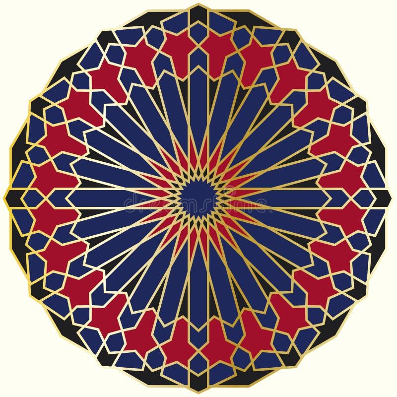 Arabic circular pattern stock illustration