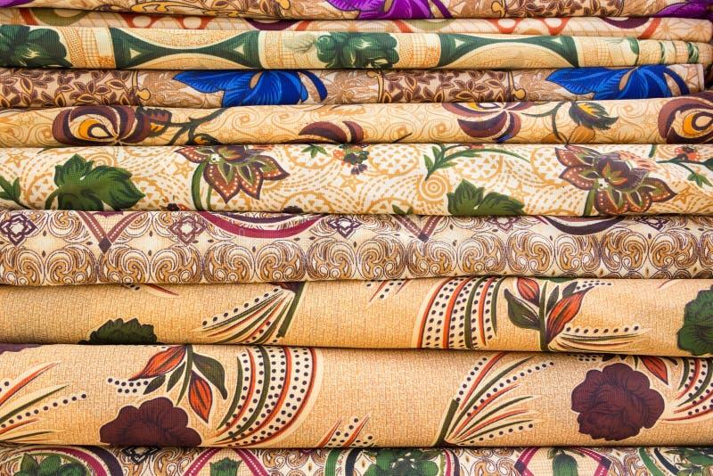 Arabic colorful fabric. Tiles of Arabic colorful fabric stock photo
