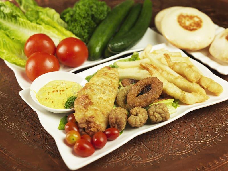 Download Arabic cuisine stock photo. Image of fish, fries, sauce - 18571054