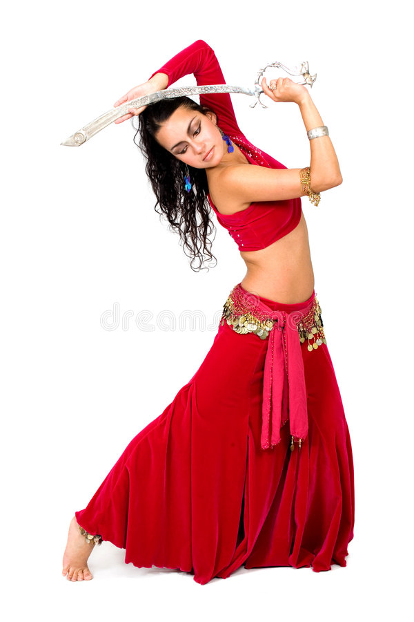 Download Arabic dancer with a sword stock image. Image of beautiful - 3255477