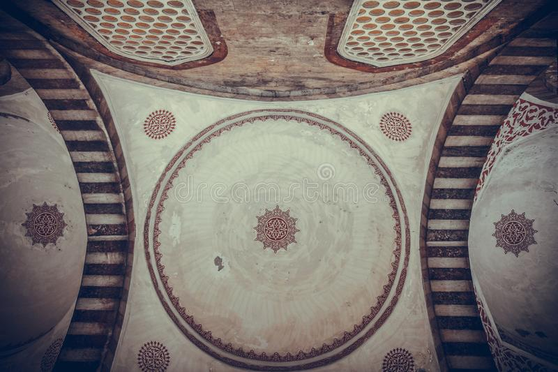 Arabic decorations on a ceiling stock image