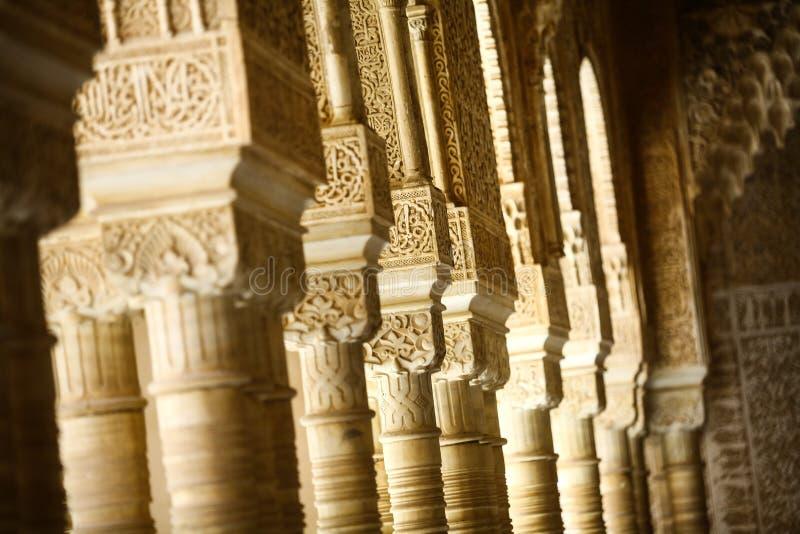 Arabic decorations detail stock image
