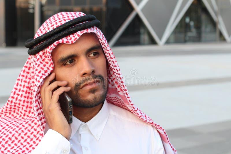 Arabic entrepreneur on the phone stock photo