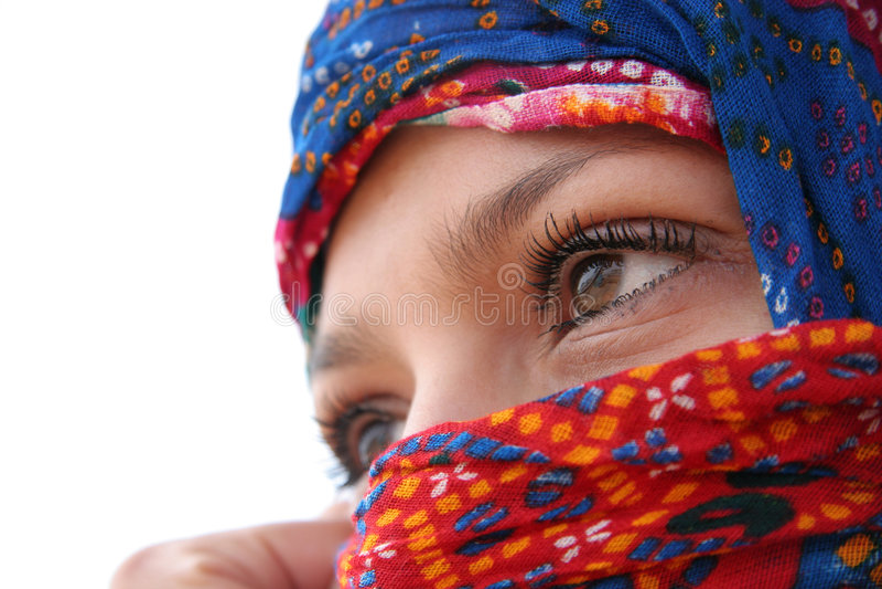 Arabic eyes royalty free stock photography