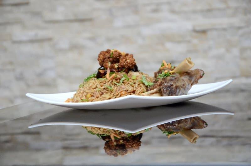 Arabic Food Rice With Lamb royalty free stock photos