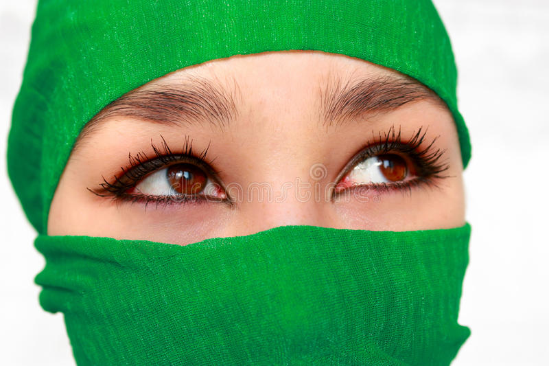 Download Arabic girl stock image. Image of eastern, green, female - 16825149