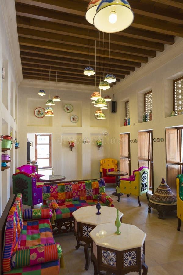 Arabic Interior And Living Room With Decoration In Dubai UAE