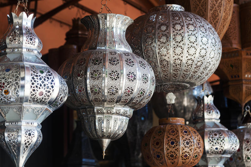 Arabic lamps in marrakesh stock photo image of for Exklusive lampen