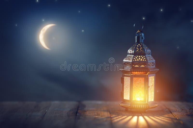 Arabic lantern with burning candle royalty free stock image