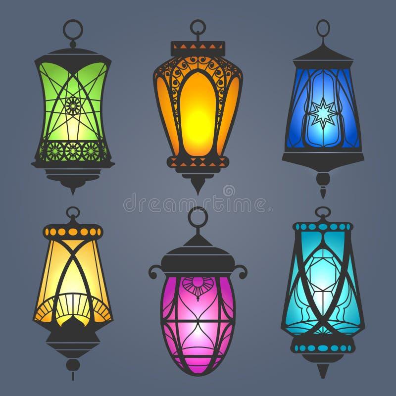Free Arabic Lantern Set Royalty Free Stock Photo - 129653345