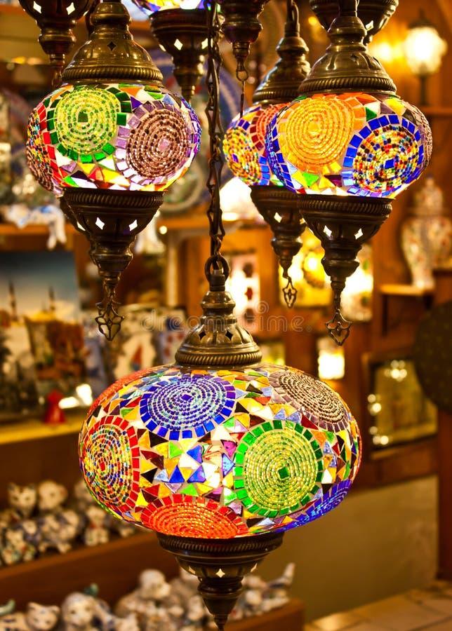 Arabic lanterns royalty free stock photos