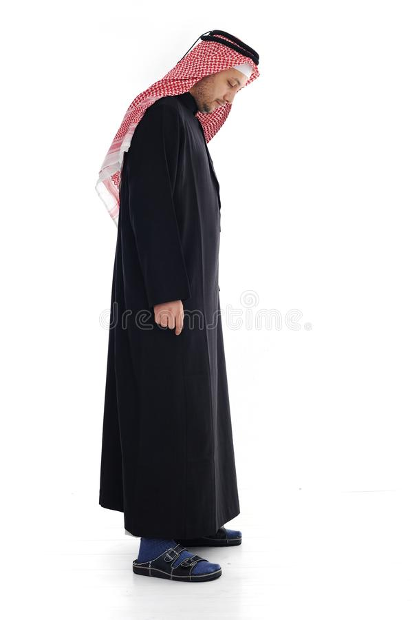 Download Arabic man looking  down stock image. Image of little - 24917157