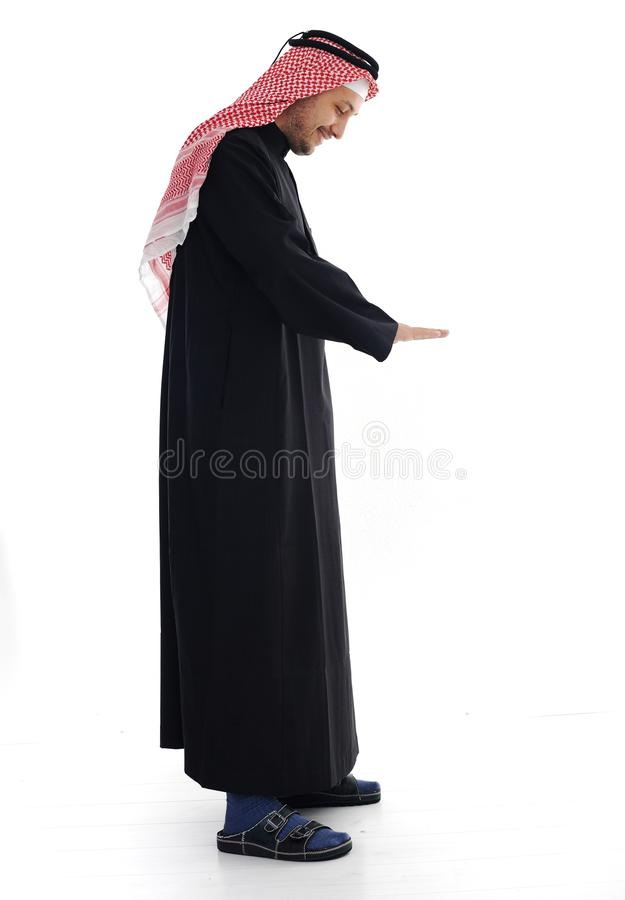 Download Arabic man looking down stock image. Image of concept - 24917159