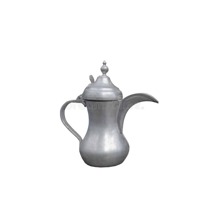 metal coffee pot isolated on white background royalty free stock photo