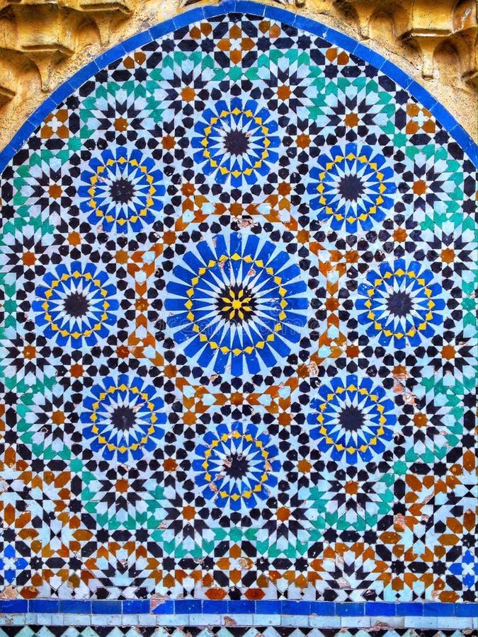 Arabic pattern. Arabic mosaic pattern background royalty free stock images