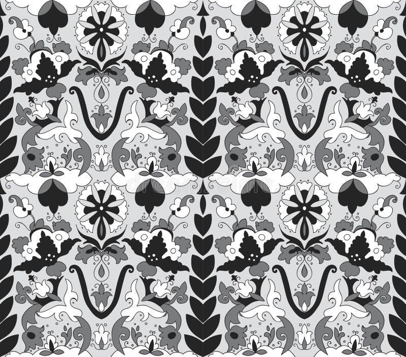 Arabic mosaica flower grey pattern stock illustration